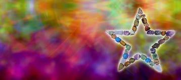 Кристаллический излечивая заголовок вебсайта стоковые изображения rf