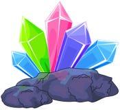 кристаллический кварц Стоковые Фотографии RF