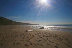 Кристаллический пляж Калифорния Ньюпорта бухты Стоковые Изображения RF