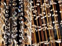 Кристаллический цепной кристаллический привесной хрустальный шар стоковые фото