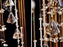 Кристаллический цепной кристаллический привесной хрустальный шар стоковое изображение rf
