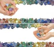 2 кристаллических излечивая знамени вебсайта Стоковое Изображение