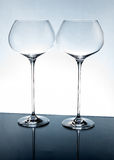 2 кристаллических пустых стекла Стоковые Фото