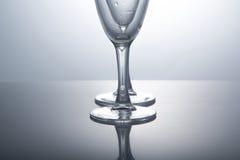 Кристаллическое стекло на белой предпосылке Стоковые Фотографии RF