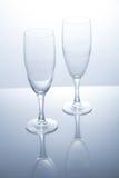 Кристаллическое стекло на белой предпосылке Стоковые Изображения