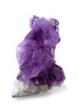 Кристалл драгоценной камня amethyst фиолетовый естественный Стоковая Фотография