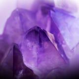 Кристалл драгоценной камня amethyst фиолетовый Стоковое фото RF