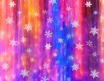 Кристалл снега с предпосылкой светов стоковые изображения rf