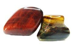Кристаллы глаза тигра минеральные геологохимические Стоковая Фотография RF