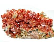 Кристаллы geode ванадинита геологохимические Стоковые Изображения RF