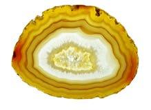 кристалл chalcedony агата геологохимический Стоковое Изображение