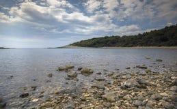Кристалл Croati - ясное побережье Стоковая Фотография RF