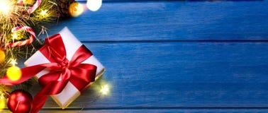 Кристмас или подарок Новый Год стоковые фото