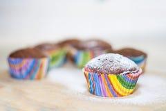 Кристмас Miffins, пирожные стоковое изображение rf