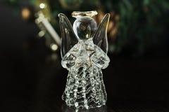 Кристл Анджел на предпосылке шариков золота рождества Новый Yea стоковые фото