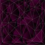 Кристл и каменная предпосылка Треугольник вектора, триангулирование Стоковое Фото