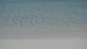 Кристл - ясная вода бирюзы на пляже видеоматериал