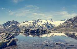 Кристл - ясное озеро горы Стоковое Изображение RF