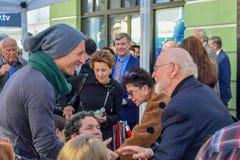 Крис Мартин и Джон Уильямс на прогулке Gustavo Dudamel Голливуд церемонии раскрывать звезды славы стоковая фотография rf