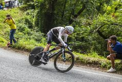 Крис Froome - Тур-де-Франс 2018 Стоковые Изображения RF