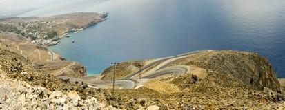 критский берег дороги Стоковое Изображение RF