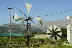 Крит Греция приземлился продолжающееся солнце лучей плоскости Стоковое Изображение