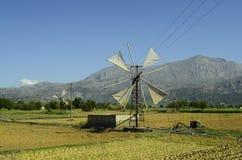 Крит Греция приземлился продолжающееся солнце лучей плоскости Стоковое Фото