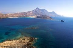 Крит Море Крепость на острове Gramvous Стоковая Фотография RF