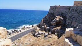Крит Rethymno cit стоковое фото rf