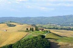 Крит Senesi (Тоскана, Италия) Стоковые Фото