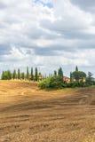 Крит Senesi (Тоскана, Италия) Стоковое Изображение RF