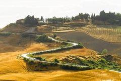 Крит Senesi (Тоскана, Италия) Стоковое фото RF