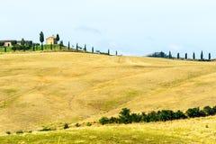 Крит Senesi (Тоскана, Италия) Стоковые Изображения RF