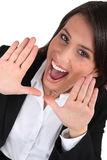 Кричать женщины дела стоковая фотография