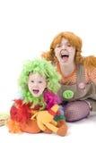 кричать клоунов Стоковое Изображение