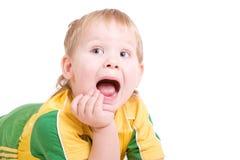 кричать рта пола мальчика открытый стоковое изображение rf