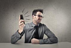 Кричать телефона стоковые изображения