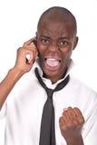 кричать человека мобильного телефона Стоковое Изображение RF