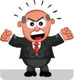 Кричать человека босса Стоковое Фото
