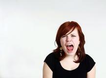 кричать redhead девушки предназначенный для подростков Стоковое Изображение