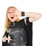 кричащая ведьма Стоковая Фотография