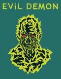 Кричащая голова вампира также вектор иллюстрации притяжки corel Стоковые Изображения