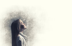 Кричащая девушка Стоковая Фотография RF