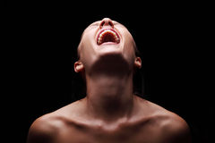 Кричащая женщина Стоковые Изображения RF