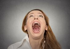 Кричащая женщина Стоковые Изображения