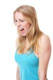 Кричащая женщина Стоковое Изображение RF