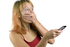 кричащая пугающая женщина Стоковое Изображение
