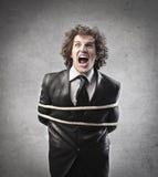 Кричащий бизнесмен Стоковая Фотография RF