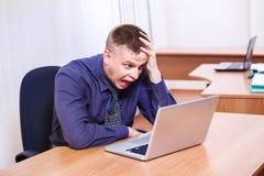 Кричащий бизнесмен Стоковая Фотография