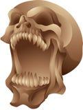 Кричащий изолированный череп Стоковое Изображение